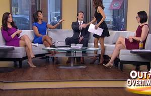 Andrea Tantaros Outnumbered Porn - Outnumbered hosts in mini dresses and high heels showing off their crossed  legs. Andrea Tantaros