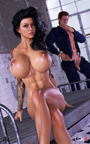 3d cartoon huge cock - ... Adorable black-haired babe gets covered with a fresh cum