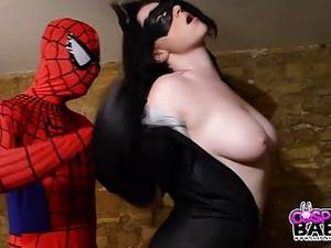 Batgirl Cosplay Porn Blowjob - Cosplay Babes Busty Catwoman Fucked By Spiderman