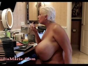 fat ass saggy tits - Claudia Marie Giant Saggy Fake Tits & Huge Fat Ass