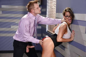 beautiful secretary fucking - ... Nerdy secretary Peta Jensen has face fucked right the fuck off in  office ...