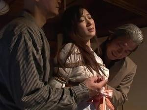 mature big nipples tied scared - japanese milf is bound and played with