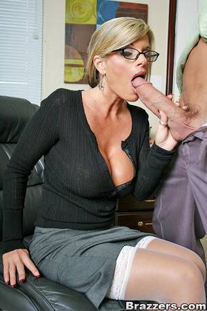 busty secretary blowjob - ... naked Kristal Summers blowjob stockings