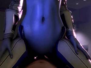 Mass Effect 3 Liara Porn 3d - Liara T´soni looking at viewer cowgirl POV