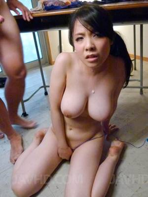 asian huge cum load - Big titted Asian girl Miho Tsujii is getting loads of cum shot over her  stretched body