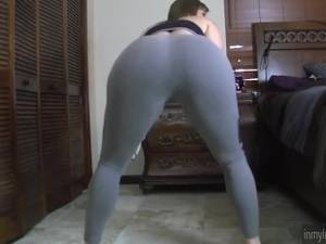 her phat ass in leggins - PAWG Whooty Twerking in Leggings leggins spandex booty tights ass butt