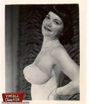 natural vintage breasts - ... Vintage ladies with massive natural breasts posing nude ...