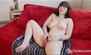 hairy bush solo - Busty Raven Toy Her Hairy Pussy