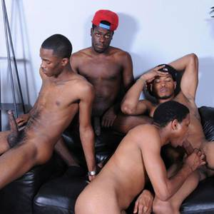 Gay Ebony Orgy Porn - 5-man Orgy - Dark Thunder / Thug Orgy photo gallery