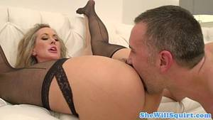 big tit milf squirting hard - Blonde squirter gets pussyfucked